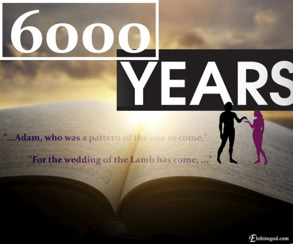 Elohim God will appear in the end of the 6.000 years of redemption work.