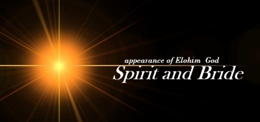 Elohim God appear as Spirit and Bride in the age of the Holy spirit