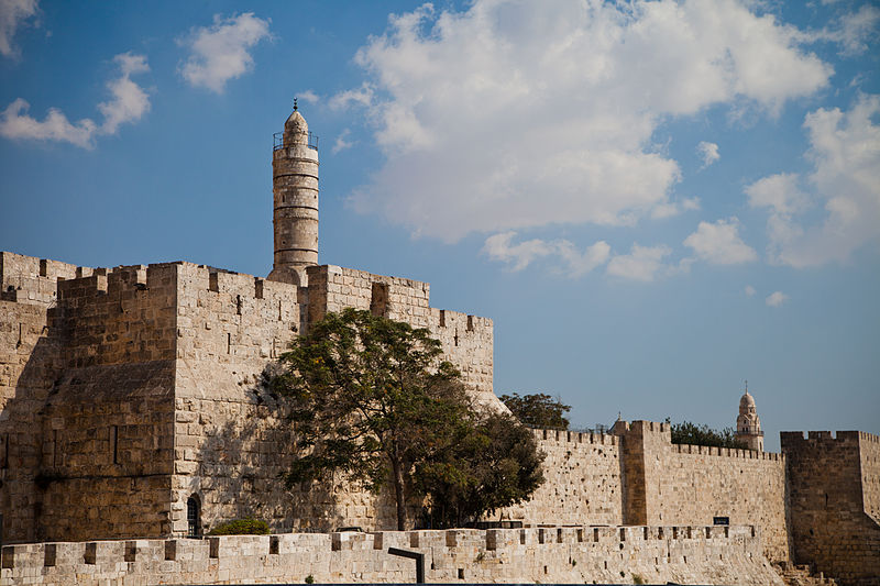 Physical Zion, 'castle of David'.