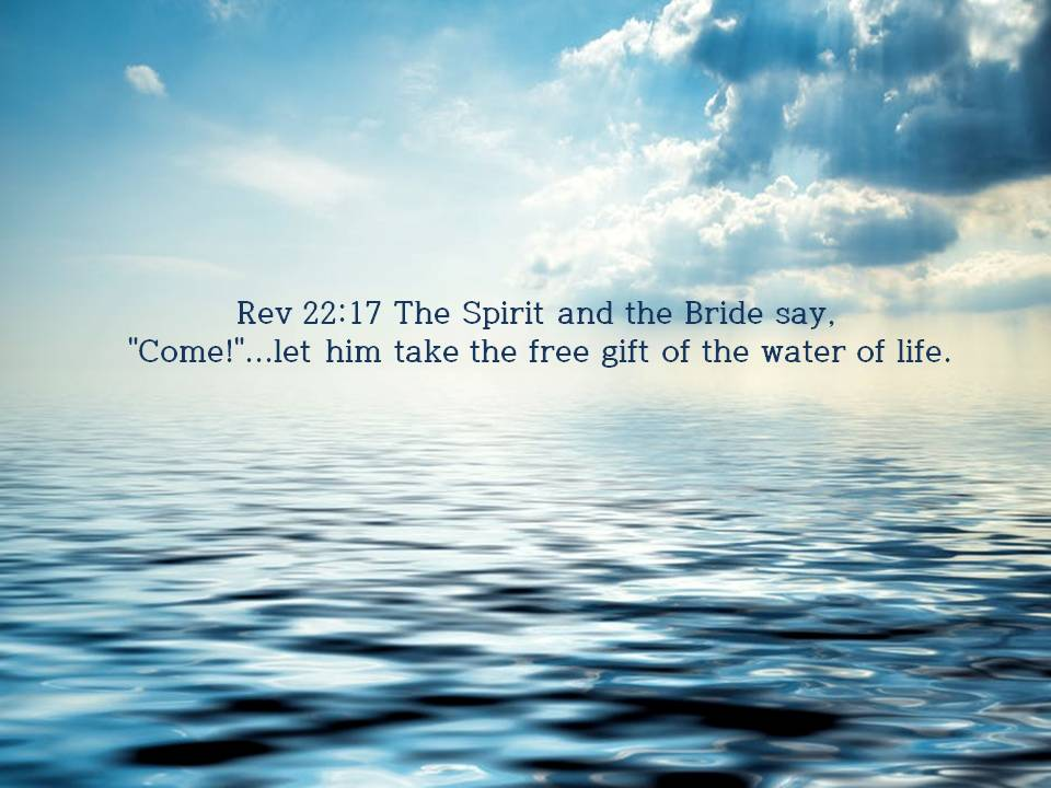 The Water of Life of Heavenly Mother which saves mankind