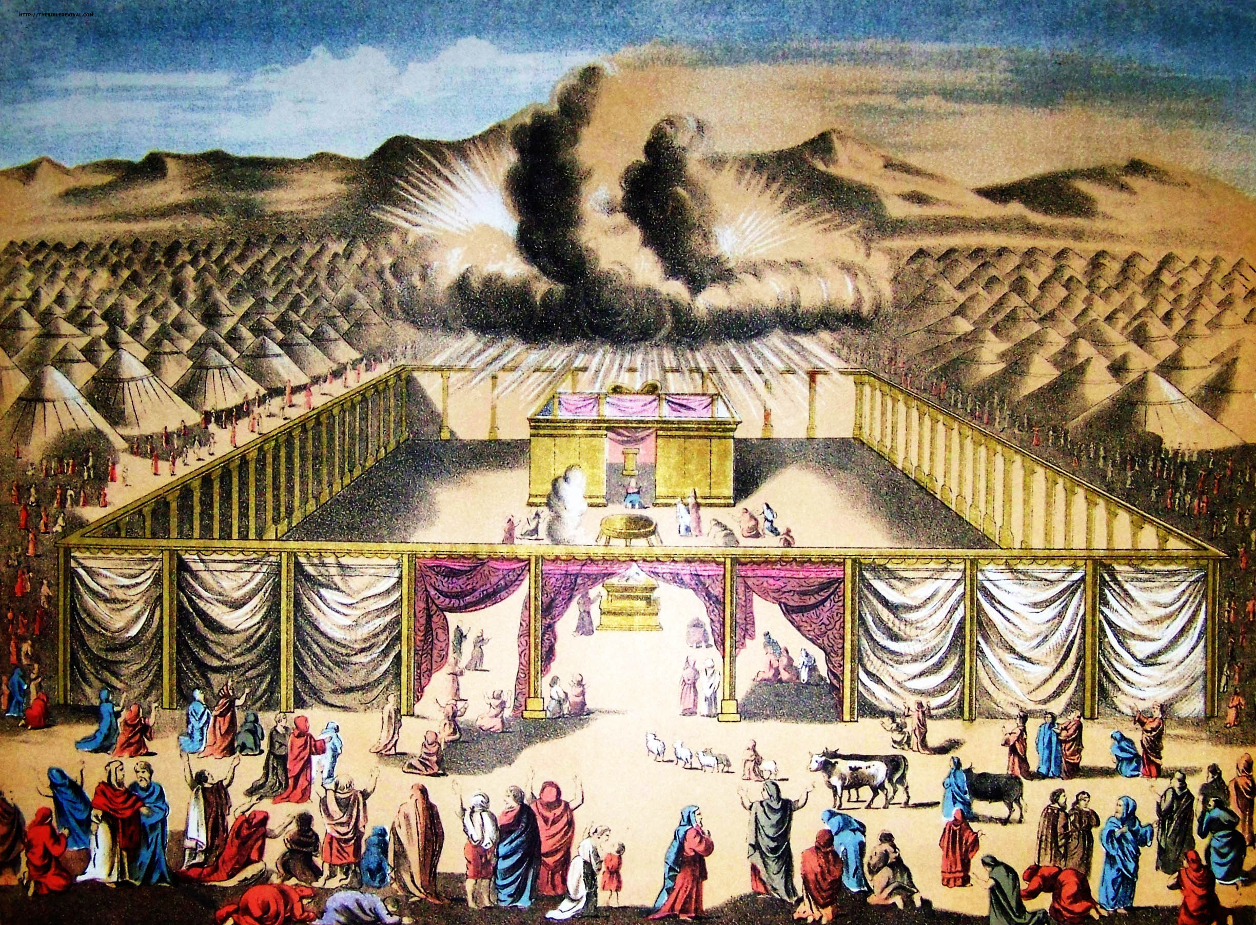 The Sanctuary of the Old Testaments is a shadow. Then, why did God command to Moses of His building the tabernacle as a copy and shadow?